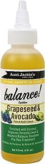 Aceite de semillas de uvas y aguacate Balance, de Aunt Jackie's, para crecimiento natural