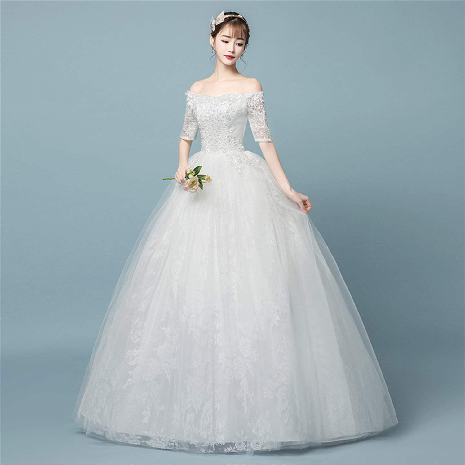 Strapless Shoulder Wedding Dress Bride Big Code Show Skinny Princess Studio Official Fashion