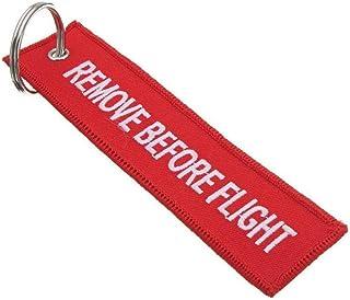 5 Pz Remove Before Flight Portachiavi Etichetta Bagaglio Multiuso Double Sided Ricamo Aviation Portachiavi Pilota Viaggiat...