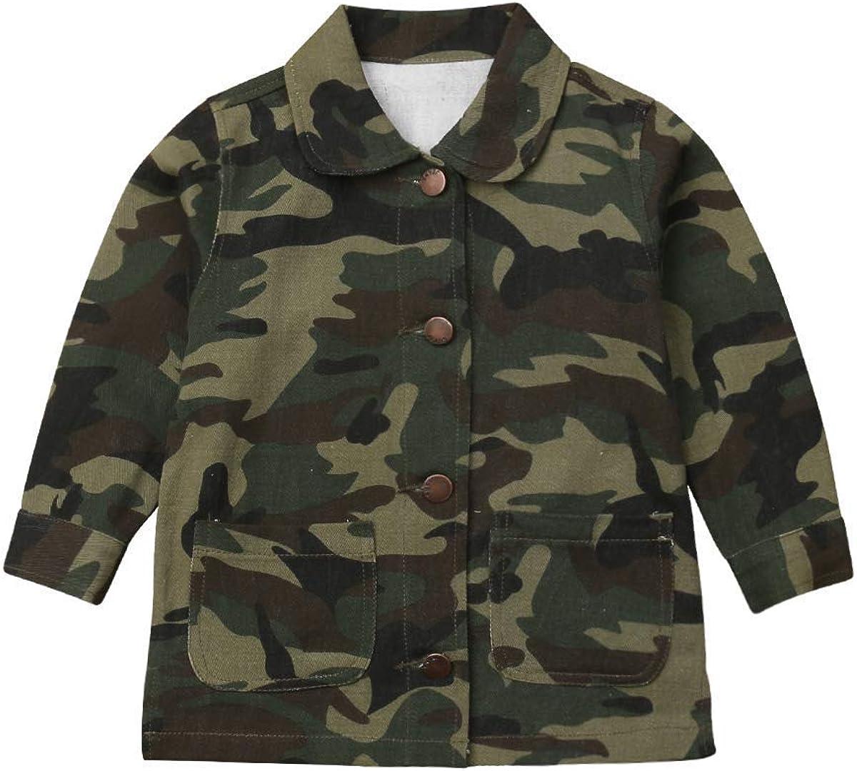 Toddler Little Girl Translated Camouflage Jacket Coat Bu Heart Letter Print Many popular brands