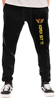 KellHay Men Rival Sons Hip Hop Classic Fleece Sweatpants Long Pants Leisure Wear Black