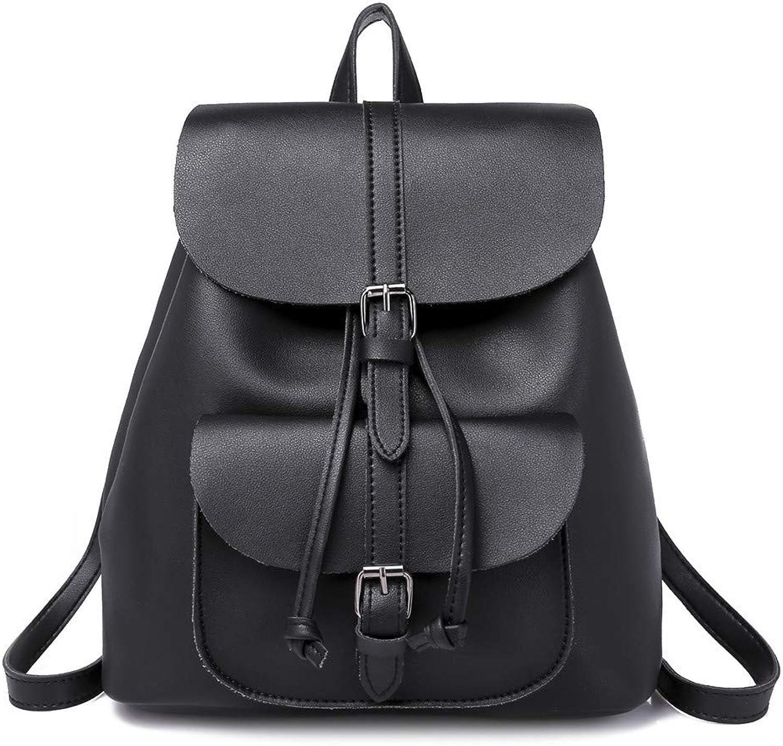 Fsweeth Retro-Stil Handtaschen Mode PU Frauen Umhängetasche Tasche weiblich, 38cm  6cm  30cm, schwarz B07PKPFJ5H  | Düsseldorf Online Shop