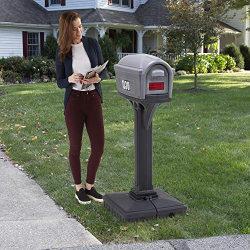 Simplay3 Dig-Free Easy Up Classic Mailbox (Steel Gray/Charcoal)
