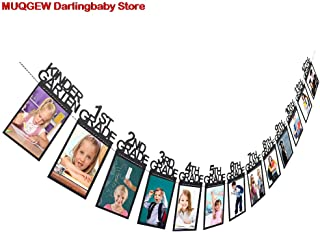 Kid Children Graduation Gift Decorations Kindergarten 12 Grade Photo Banner Wall Baby Souvenirs Hand Footprint Makers Decoration : China