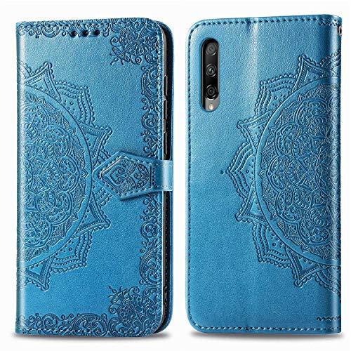 Bear Village Hülle für Huawei Honor 9X Pro, PU Lederhülle Handyhülle für Huawei Honor 9X Pro, Brieftasche Kratzfestes Magnet Handytasche mit Kartenfach, Blau