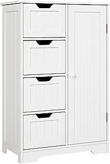HOMFA Bathroom Floor Cabinet, Wooden Side Storage...