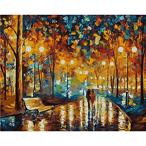NIULLA Adultos Y Niños Pintura Al Óleo Digital Sin Marco Lienzo Pintura Digital Pigmento Color Pintura DIY Paisaje Flor Pintura Al Óleo 16X20 Pulgadas,T13