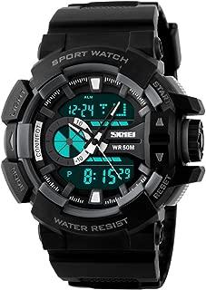 SKMEI Outdoor Sports Dual Time Display Waterproof Digital Men's Watch(Grey, 5275865)