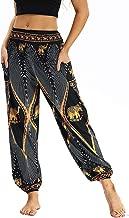 HYSGM Men Women Bohemian Loose Yoga Dance Travel Lounge Pants Festival Beach Pockets Pants