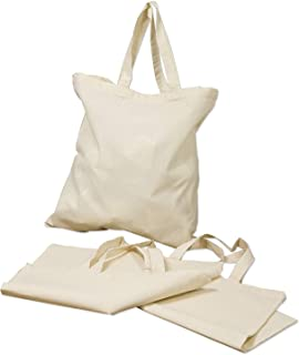 """(6 Pack)15.7""""x15.7"""" Reusable Cotton Canvas Tote Bag Designer Grocery Shopping Bags Convenient for Everyday Shopping Perfec..."""