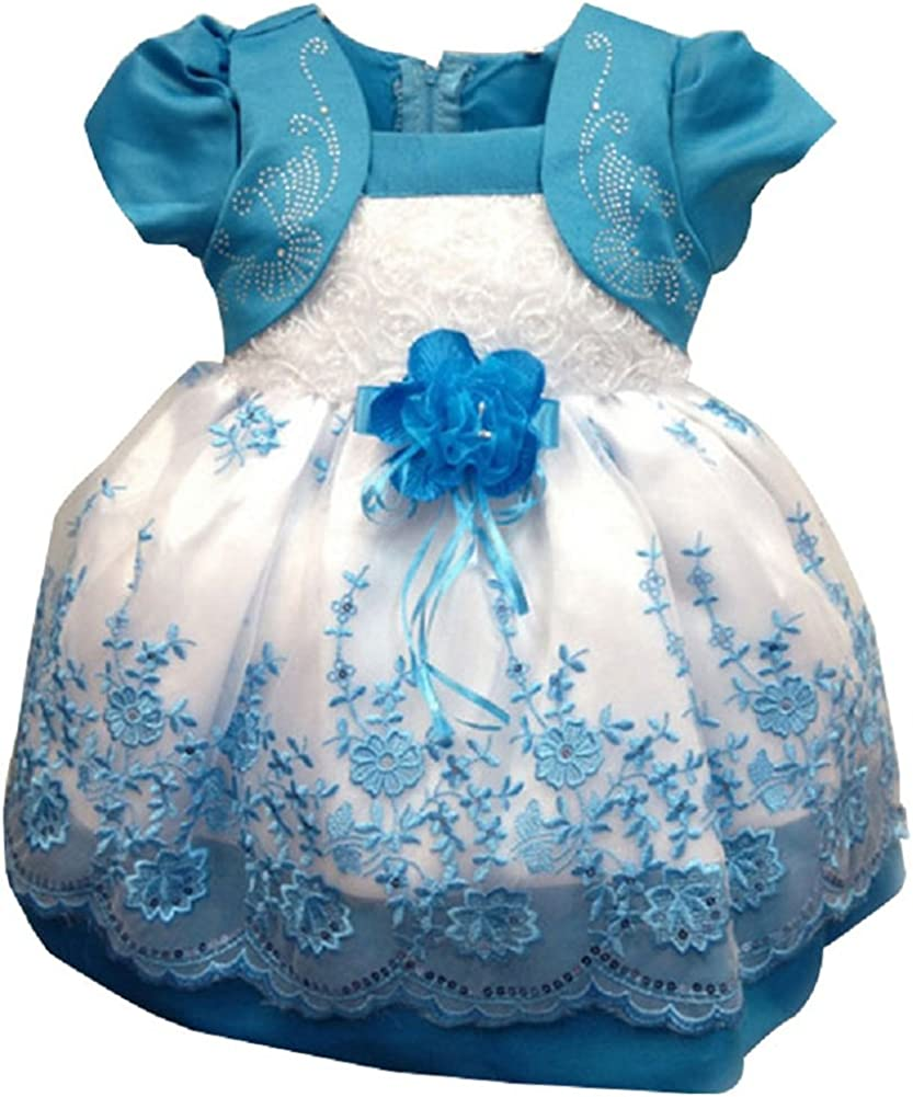 C.X Trendy Little Girls Special Occasion Dress with Flower At Waist
