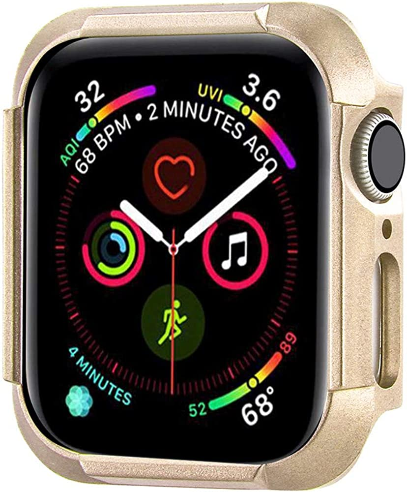 Konafei Compatible with Apple Watch Case 40mm 44mm Series 6 5 4 SE, Matte Hard Bumper Silm Plastic Protective Cover Lightweight Ultra-Thin PC Guard Accessories for iwatch