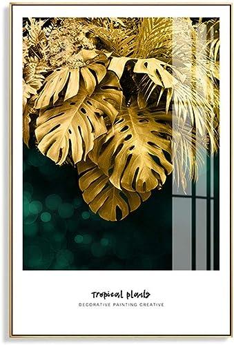 40% de descuento BAIF Pinturas Decorativas Villa Planta Dorada Dorada Dorada Colgante Pintura Sala de Estar Parojo Posterior Pintura en sofá Corrojoor Mural (Color  I, Tamaño  40 y Tiempos; 60 cm)  comprar descuentos