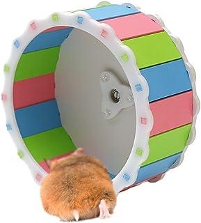 Etopfashion サイレントホイール 小動物用玩具 丈夫で安全 ゴールデンハムスター ハムスターボール 単に組み立て式 運動不足解消