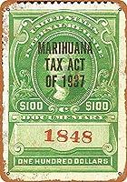 百ドル1937年マリファナ税スタンプコレクティブルウォールアート