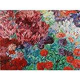 Nolde Kunstdruck auf Leinwand, Motiv: Blumengarten,