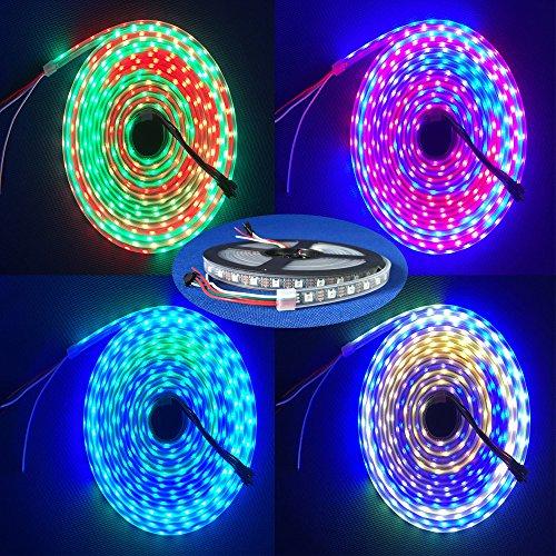 Amazon.co.uk - 4m 5V 60Leds/m 240pixels programmable WS2812B RGB 5050 LED strip Individually addressable Waterproof