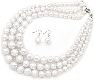 Women's Multi-Strand Acrylic Ball Bead Statement 18