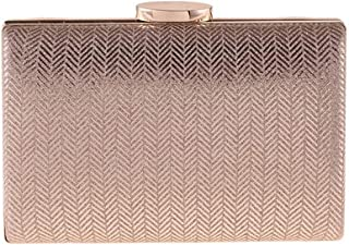 WINPSHENG-Handbags Simple Clutch Eventide Bag Plaid Synthetic Leather Arduous Shell Handbag Small Square Package Champagne 17.5 5 11CM