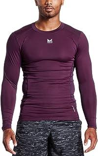 Mission Mens Mission Men's vaporactive Voltage Long Sleeve Compression Shirt MISSP17M018-P