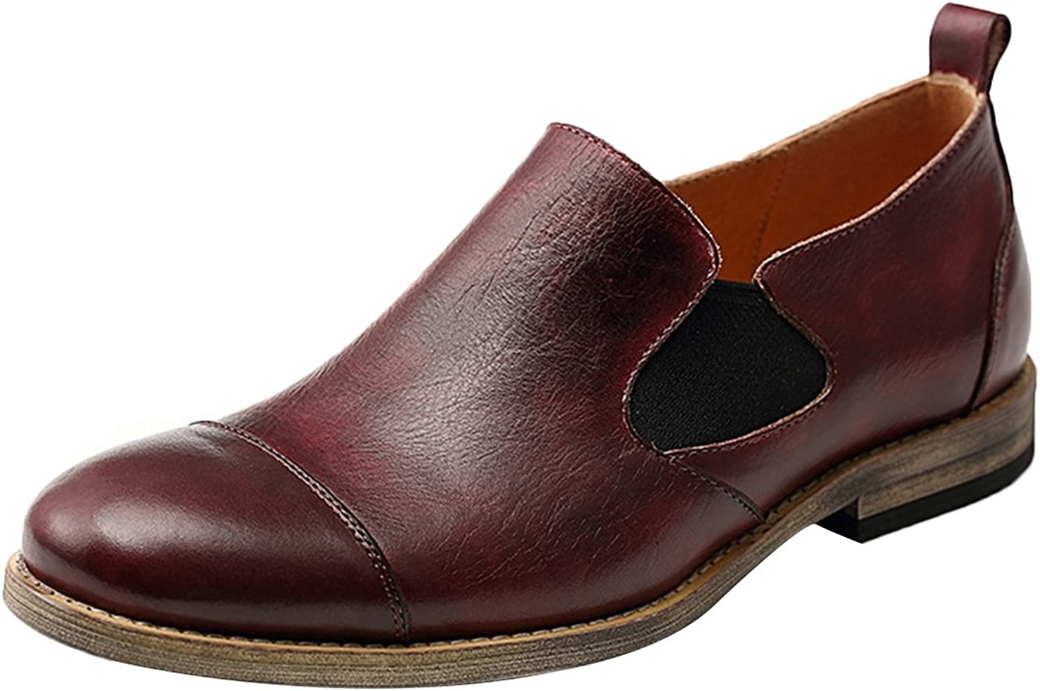 LIVEINU Men's Genuine Leather Casual Slip On Loafers shoes
