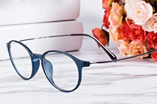 TR90 Memory Anti-Blue Radiation HD Presbyopic Glasses Female Comfortable Elegant Goggles (Color : Blue, Size : +1.0X)