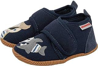 Giesswein Pantoufles pour bébés Sahms - Chaussures Respirantes en Cuir et Velcro pour Enfants en Bas âge, Chaussures antid...