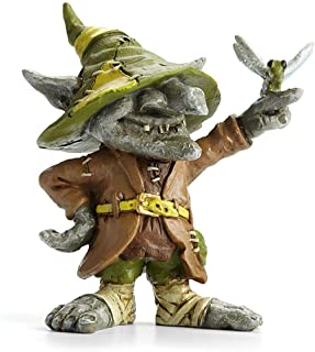 Remy, Troll with Dragonfly for Miniature Garden, Fairy Garden