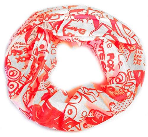 PRESKIN – panno multifunzionale da usare come cappuccio, foulard, sciarpa da collo, passamontagna, fascetta, scaldapolso, cappello, bandana, sciarpone, anello, fascia, scaldacollo, bandana da pirata, gonna e cintura sulla testa, collo e braccia, 133MultiLoopTagPink, 133MultiLoopTagPink, Taglia unica