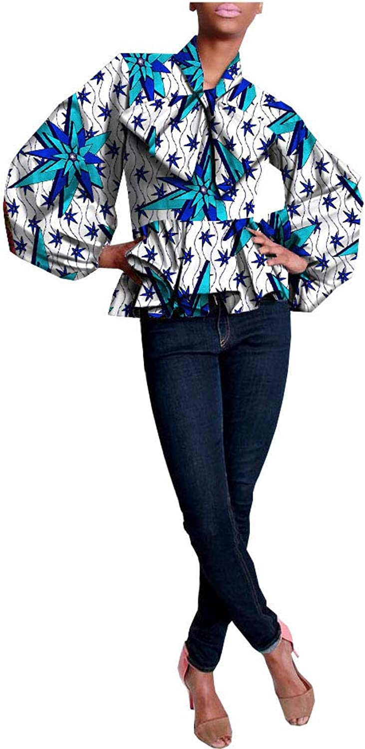 African Shirts For Women Ankara Dashikis Wax Prints Attire Casual Clothing 283 XL