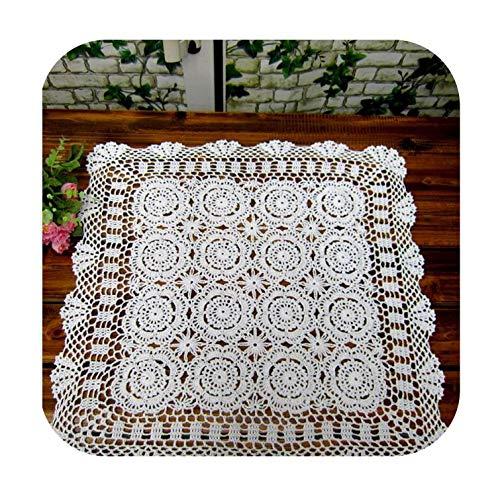cubierta de mesa hecha a mano Crochet posavasos de algodón mantel de la...