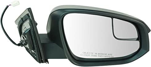 Side View Power Mirror with Spotter Glass Textured RH for Toyota Rav4 SUV