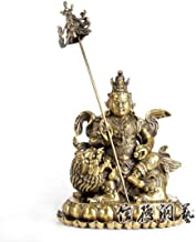 Ornaments Statues Sculptures Chinese Religious Exquisite Tibetan Buddhism Handwork Copper The King of Wealth Buddha Statue