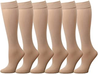 ada7be889 Falari 6 12-Pack Women Trouser Socks with Comfort Band Stretchy Spandex  Opaque Knee