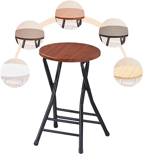 Chaise pliante portable Simplicité moderne Chaise à hommeger chaises pliantes Tabouret haut (Couleur   3)
