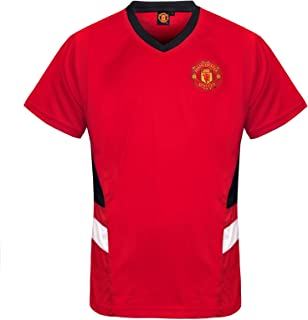 Manchester United Football Club Official Soccer Gift Mens Poly Kit T-Shirt