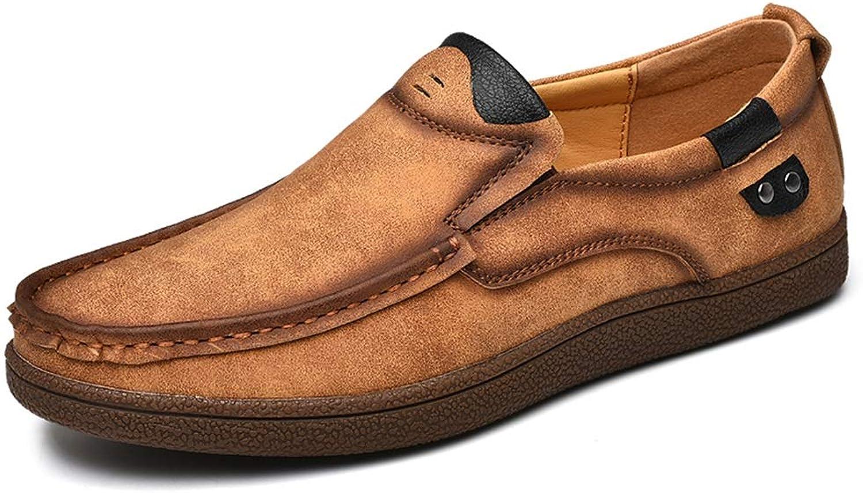 Easy Go Shopping Driving Loafer für Mnner Stiefel Mokassins Slip On Style OX Leder Persnlichkeit Nhte Runde Zehe,Grille Schuhe