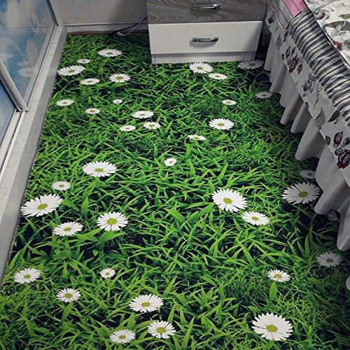 WXDD Fußmatten Moderner 3D-Cartoon-Kinderteppich, Wohnzimmersofa, Teetischmatte, Haushaltsschlafzimmer, Nachttischdecke, individuelle Bettwäsche, 120 x 180 cm [Teetischteppich], Grünes Gras