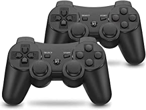 $25 » Vinklan PS3 Controller Wireless Double Shock Gamepad for Playstation 3, Six-Axis Wireless PS3 Controller with Charging Cab...