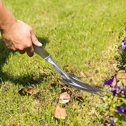 Worth Garden Weeder Green Garden Hand Weeder Tool Aluminum Garden Weeding Tools Manual Weed Puller for Lawn Yard