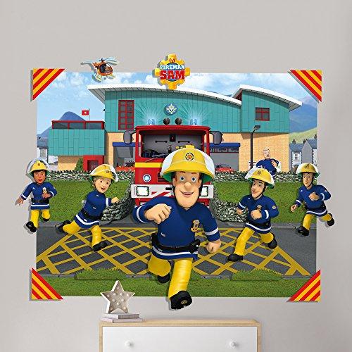 Fireman Sam 3D Pop Out Wall Decoration, Paper/Card, Multi-Colour, 152 x 1 x 121 cm