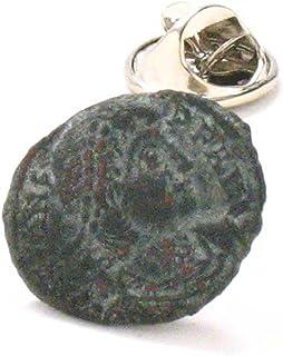 Roman Coin Tie Tack Lapel Pin Rome Emperor Empire Jewelry Legionary Soldier Military Colosseum Ancient
