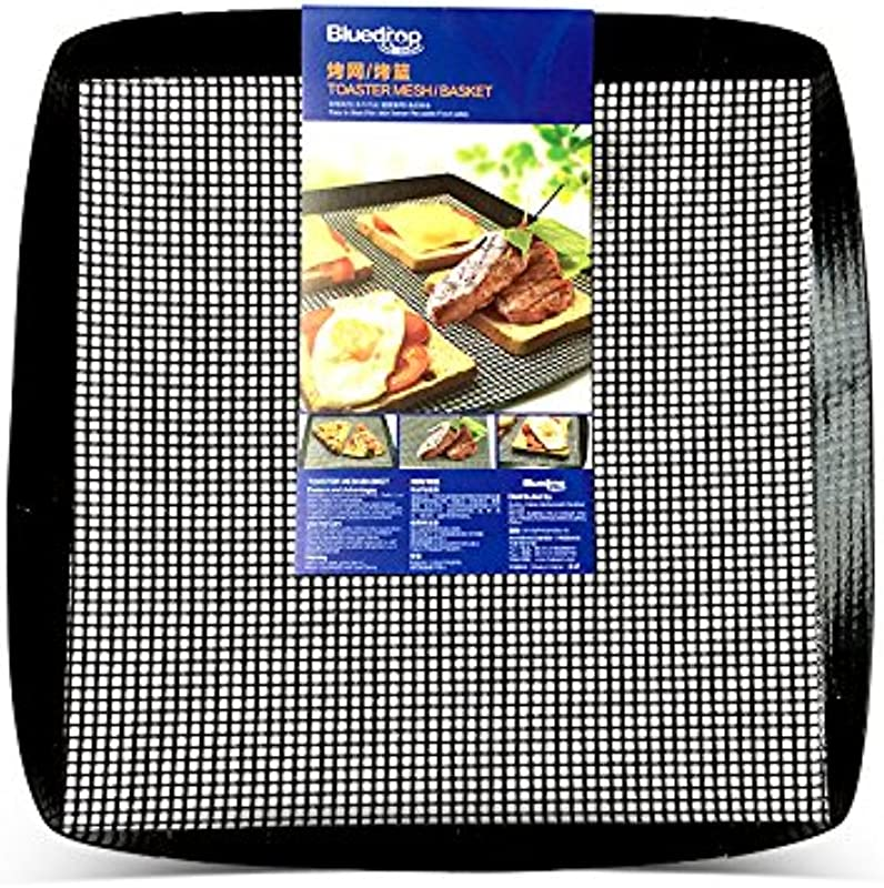 Bluedrop Toaster Baskets Grill Baskets Crisper Chips Bakery Trays Woven Glass Baking Mesh Baskets For Quick Oven 30X35CM