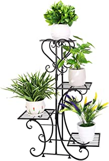 Estantería de madera para macetas Malayas ideal para exteriores e interiores 6 estantes 96 x 95 x 25 cm