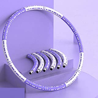 Hula Hoop - Vuxen Hula Hoop för viktminskning och justerbar skummassage 6 segment Hula Hoop för viktkondition