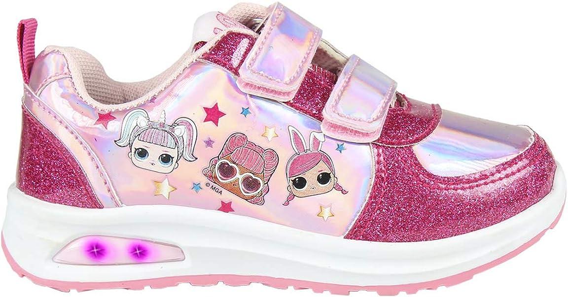 CERD/Á LIFES LITTLE MOMENTS M/ädchen Cerd/á-Zapatilla Con Luces De Color LOL Surprise Sneaker mit Lichtern in Rosa