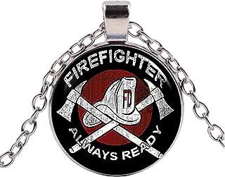Heiliger Florian Anhänger mit Namen Gravur Feuerwehr männer mit Kette Silber 925