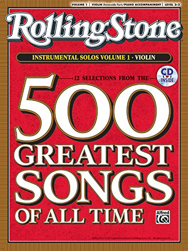 Selections from Rolling Stone Magazine's 500 Greatest Songs of All Time (Instrumental Solos for Strings), Vol 1: Violin, Book & CD