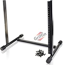 Rack Mount Stand with 10 Spaces by Griffin | Music Studio Recording Equipment Mixer Standing Case | RackMount Audio Networ...