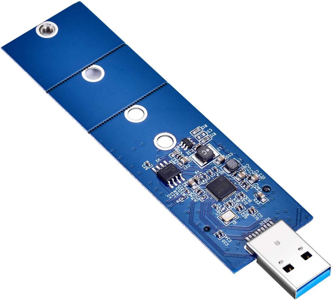 M.2 SATA SSD to USB 3.0 Adapter, SATA Based B Key M.2 SSD to USB 3.0 Adapter, M.2 NGFF Converter SSD Reader Card, Support 2230 2242 2260 2280 SATA Based B Key SSD